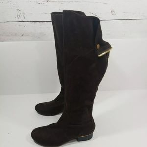 X2B Knee High Boots, Dark brown Size 7 Faux Suede